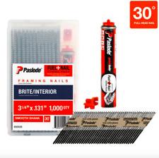 Paslode Framing Nails Fuel Cell Pack 3-1/4 inch 30 Degrees Nail Gun Nailer Tool