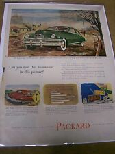 """Original 1949 Packard Eight Magazine Ad - Can You Find the """"Limousine""""...?"""