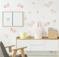 Watercolour Pink Polka Dots Wall Stickers decal decor Nursery kid removable