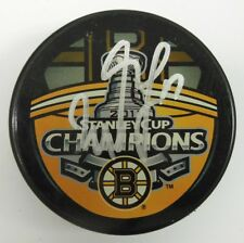 MILAN LUCIC SIGNED BOSTON BRUINS 2011 STANLEY CUP CHAMPIONS PUCK 1002682