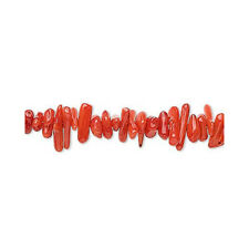 Strand 220+ Red Coral 4-10mm Cupolini Chip Beads YF0055