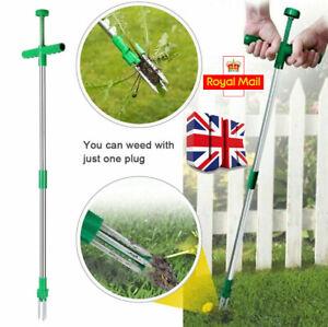 Weed Puller Weeder Twister Twist Pull Garden Lawn Root Remover Killer Tool UK