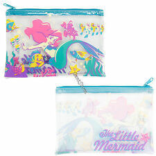 Ariel Mermaid Gang Friends Clear Pencil Case Cosmetic Tote Bag Disney Loungefly