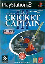 International Cricket Captain III Sony Playstation 2 PS2 3+ Game