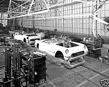 Photograph 1953 Chevrolet Corvette Assembly Line Flint Michigan  8x10