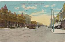 Escanaba MI * Ludington St. 1915 *  Trolley