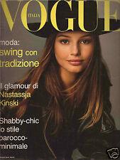 Vogue Italy November 1993 Nastassia Kinski-Carla Bruni-David Salle-Michael Nyman
