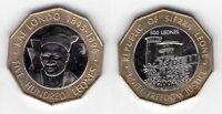 SIERRA LEONE -  BIMETAL 500 LEONES UNC COIN 2004 YEAR KM#296