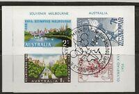 CTO 1956 MELBOURNE OLYMPIC SOUVENIR SHEET-72