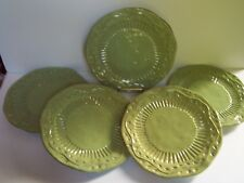 Certified International Cuisineware Green Dinner Plates Set of 5 Stoneware