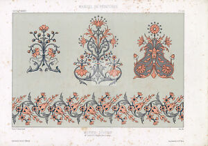 DECORATION - Ornamental Floral Designs for Painters and Decorators 1850 #B230