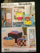 Simplicity Pattern 8309 Tidy Bags Buckets wall tidy Owl Cow  holdall  NEW