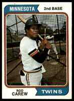 1974 Topps Rod Carew stainback Twins #50 *Noles2148*