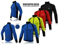 Mens Cycling Winter Windstopper Jacket Thermal Fleece Windproof Long Sleeve Coat