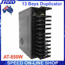 AT-850W 13 Bay CD/DVD Duplicator with VinPower 1 to 11 SATA Controller + DVD RW