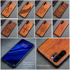 For Samsung Galaxy Note 10 Pro Protect Cover Natural Wood Carved TPU Phone Case