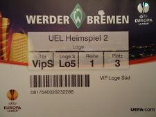 VIP TICKET UEFA EL 2009/10 Werder Bremen - Austria Wien