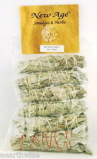 SMUDGE STICK: 6-PACK WHITE SAGE Wicca Witch Reiki Pagan Goth Spiritual Purify