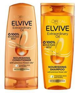 Elvive Extraordinary Oil Nourishing Shampoo & Conditioner 400ml
