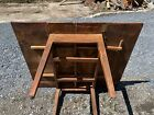 Antique Hepplewhite Table Kitchen Farm Grain Painted Sq Nail Wood County