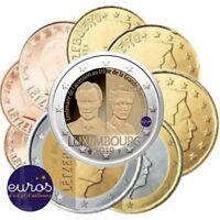 2 euros commémorative LUXEMBOURG 2019 - Charlotte + série 1 cent à 2 euros - UNC