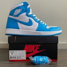 Nike Air Jordan 1 Retro UNC White Dark Powder Blue OG High Men Sz 9.5 Worn