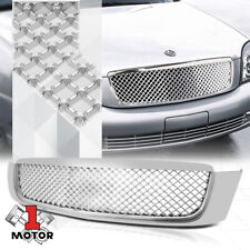 Glossy Chrome Abs 3D Wave Mesh Bumper Grille/Grill for 00-05 Cadillac DeVille (Fits: Cadillac)