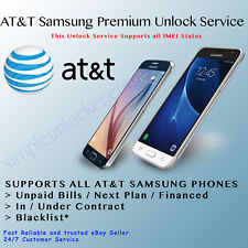 Unlock Service Code For AT&T Samsung Galaxy Note 9 J3 Top S9+ S9 99% Premium