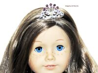 Rhinestone Tiara Crown Metal 18 in Doll Clothes Accessory For American Girl R