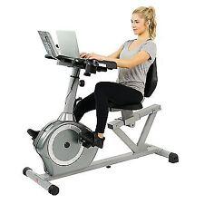 Sunny Health & Fitness SF-RBD4703 Recumbent Desk Exercise Bike, Gray