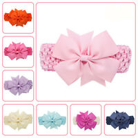 Infant Toddler Kids Girl Baby Large Bow Headband Hair Band Headwear Head Wrap