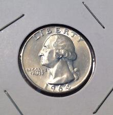 1964 25C Washington Quarter Uncirculated 90% Silver