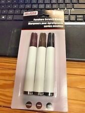 Furniture Touch-Up Marker pens set of 3  dark scratch resistant, NEW IN PACK