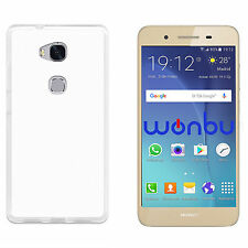 """2x Cover Custodia Trasparente Slim Tpu Per  Huawei GR3 TAG-L03 5"""""""