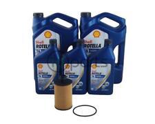 Dodge Ram 1500 Oil Change Kit-11qts Shell Rotella T6 CJ-4 Mann Filter Ecodiesel