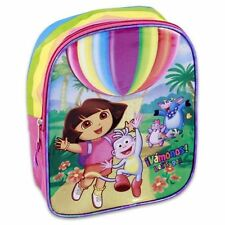 "Backpack 10.5"" DORA The Explorer & BOOTS Rainbow Balloon Flap NWT"