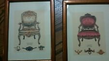 lot of 2 antique chair pictures # 2 atp