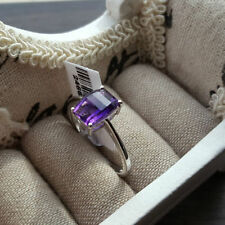 Cushion Not Enhanced Natural Amethyst Fine Rings