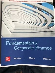 Fundamentals of Corporate Finance by Richard Brealey 9781260566093 | Brand New
