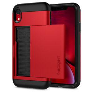 iPhone XR   Spigen®[Slim Armor CS] Card Slot Wallet Dual Shockproof Case Cover