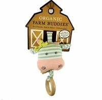 Apple Park Organic Farm Buddies Pull wiggle Toy Belle Cow Waggling Baby Animals