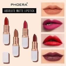 PHOERA Non Stick Matte Lipstick 12Color Long-lasting Waterproof Moisturizing NEW