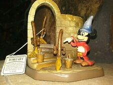 Mickey Sorcerer And Brooms Anri Toriart Ltd.Ed. Figurine,Hand Painted Carved,New