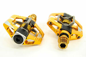 Crank Brothers Candy 11 MTB Mountain Bike Pedals with Cleats - Gold