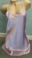 Ladies Luxury Short Chemise Satin Slip Babydoll  Nightdress Size Medium 12-14