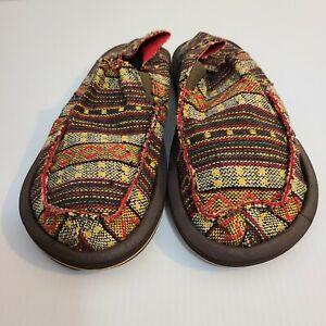 Sanuk Men's Size 11 Sidewalk Surfers flat shoes Driving Loafers Slip On(LBB