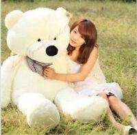 47'' Giant Big Teddy Bear Whtie Plush Soft Stuffed Toys Doll Birthday Gift 120cm