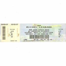 Michel Legrand Concert Ticket Stub Las Vegas Nv 3/27/10 Mgm Grand Garden Arena