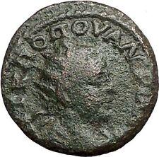 VALERIAN I 253AD Thessalonica Macedonia Kabeiros Temple RARE Roman Coin i55682