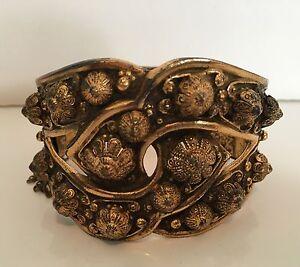 Vintage 1960s Etruscan- Style Bangle Bracelet